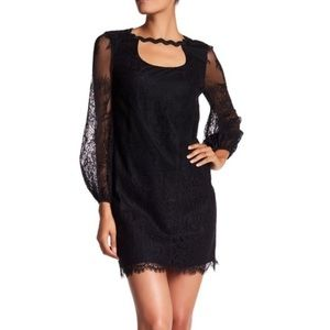 Trina Turk Tipsy Black Lace Dress